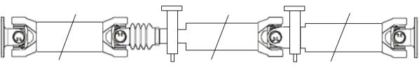 Cardans (arbre de transmission) SPIDAN 28215 (X1)
