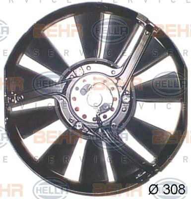 Ventilateur de condenseur BEHR HELLA SERVICE 8EW 009 157-301 (X1)