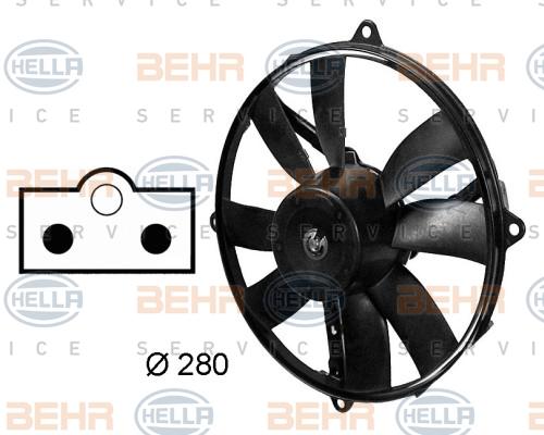Ventilateur de condenseur BEHR HELLA SERVICE 8EW 009 158-751 (X1)