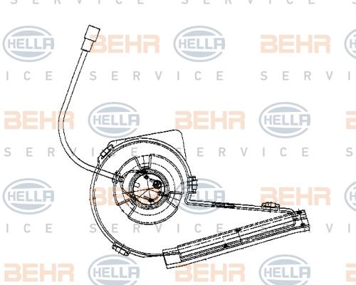 Chauffage et climatisation BEHR HELLA SERVICE 8EW 009 159-121 (X1)