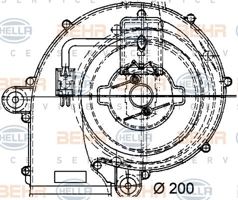 Ventilateur de radiateur BEHR HELLA SERVICE 8EW 009 159-221 (X1)