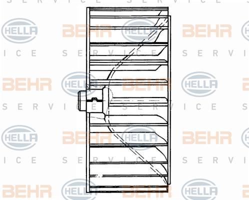 Roue de ventilateur de chauffage BEHR HELLA SERVICE 8EW 009 160-121 (X1)