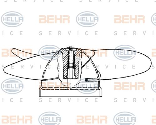 Roue de ventilateur de chauffage BEHR HELLA SERVICE 8EW 009 160-171 (X1)