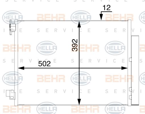 Condenseur / Radiateur de climatisation BEHR HELLA SERVICE 8FC 351 008-484 (X1)