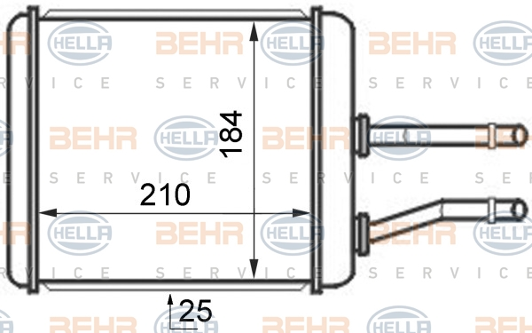 Radiateur de chauffage BEHR HELLA SERVICE 8FH 351 024-421 (X1)