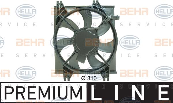 Ventilateur de condenseur BEHR HELLA SERVICE 8EW 351 034-531 (X1)
