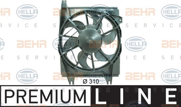 Ventilateur de condenseur BEHR HELLA SERVICE 8EW 351 034-541 (X1)