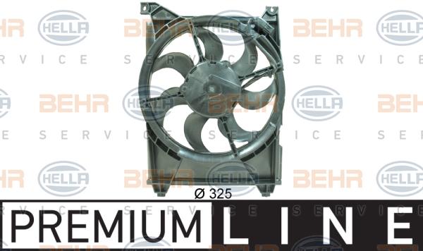 Ventilateur de condenseur BEHR HELLA SERVICE 8EW 351 034-571 (X1)
