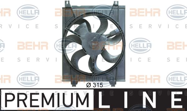 Ventilateur de condenseur BEHR HELLA SERVICE 8EW 351 034-621 (X1)