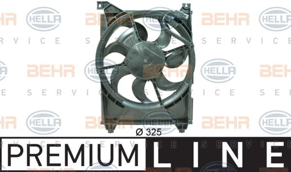 Ventilateur de condenseur BEHR HELLA SERVICE 8EW 351 034-701 (X1)