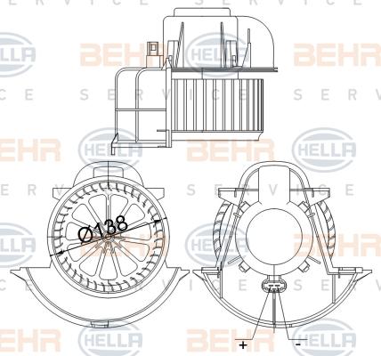 Chauffage et climatisation BEHR HELLA SERVICE 8EW 351 040-184 (X1)