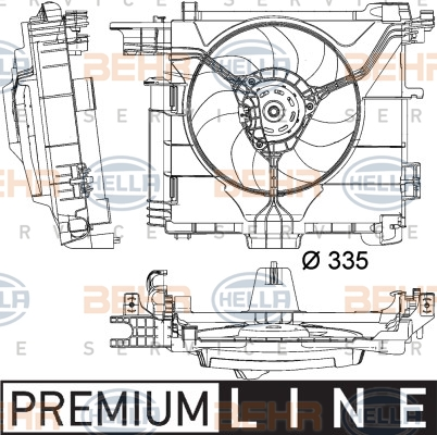 Ventilateur de radiateur BEHR HELLA SERVICE 8EW 351 041-181 (X1)