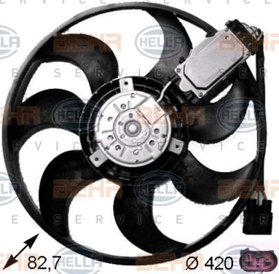 Ventilateur de radiateur BEHR HELLA SERVICE 8EW 351 043-231 (X1)