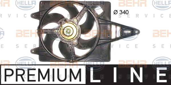Ventilateur de radiateur BEHR HELLA SERVICE 8EW 351 043-711 (X1)