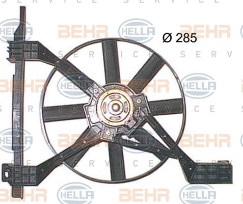 Ventilateur de radiateur BEHR HELLA SERVICE 8EW 351 150-251 (X1)