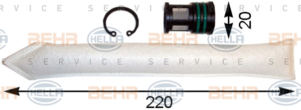 Bouteille deshydratante BEHR HELLA SERVICE 8FT 351 193-091 (X1)