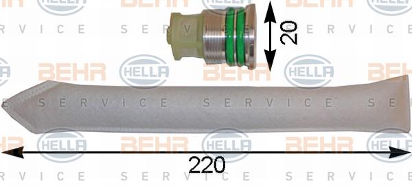 Bouteille deshydratante BEHR HELLA SERVICE 8FT 351 193-111 (X1)
