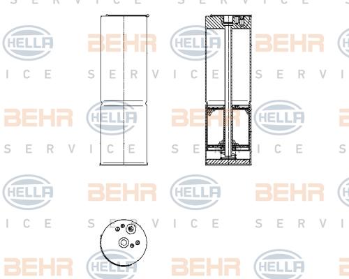 Bouteille deshydratante BEHR HELLA SERVICE 8FT 351 196-581 (X1)