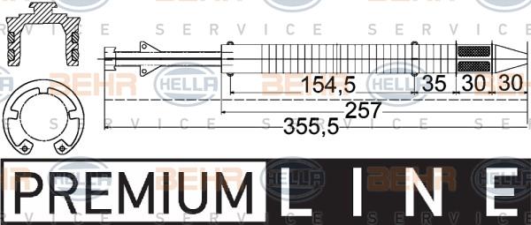 Bouteille deshydratante BEHR HELLA SERVICE 8FT 351 197-251 (X1)