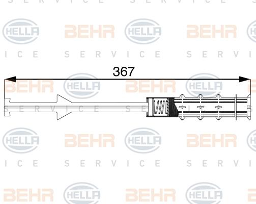 Bouteille deshydratante BEHR HELLA SERVICE 8FT 351 197-711 (X1)