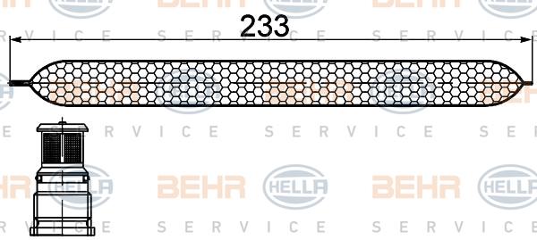 Bouteille deshydratante BEHR HELLA SERVICE 8FT 351 200-251 (X1)