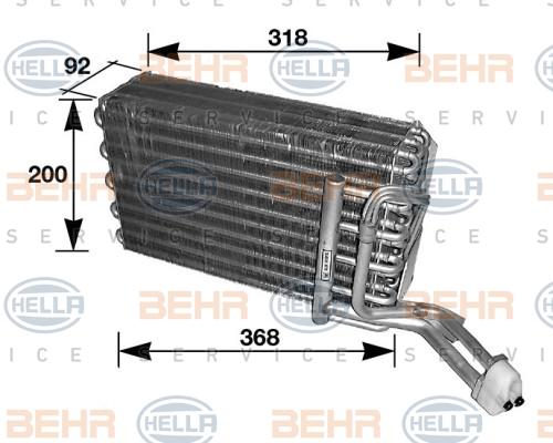 Evaporateur BEHR HELLA SERVICE 8FV 351 210-081 (X1)