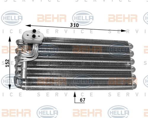 Evaporateur BEHR HELLA SERVICE 8FV 351 210-781 (X1)
