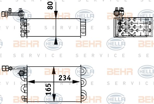 Evaporateur BEHR HELLA SERVICE 8FV 351 211-211 (X1)