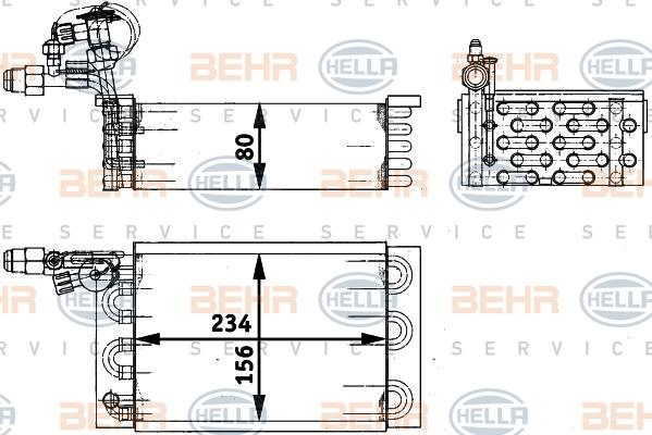 Evaporateur BEHR HELLA SERVICE 8FV 351 211-411 (X1)