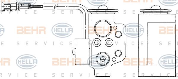 Detendeur de climatisation BEHR HELLA SERVICE 8UW 351 234-611 (X1)