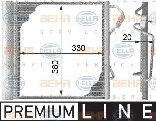 Condenseur / Radiateur de climatisation BEHR HELLA SERVICE 8FC 351 301-271 (X1)