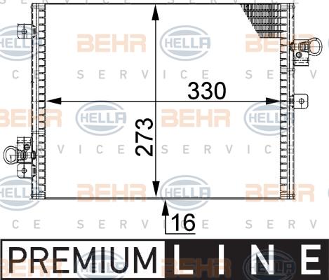 Condenseur / Radiateur de climatisation BEHR HELLA SERVICE 8FC 351 301-421 (X1)