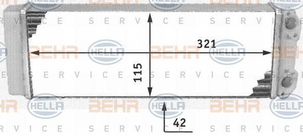 Radiateur de chauffage BEHR HELLA SERVICE 8FH 351 311-491 (X1)