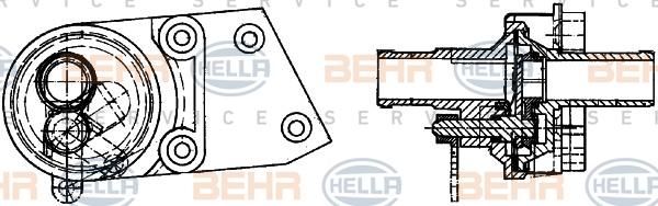 Electrovanne de climatisation BEHR HELLA SERVICE 8FZ 351 314-301 (X1)