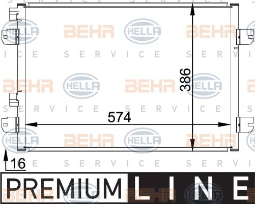 Condenseur / Radiateur de climatisation BEHR HELLA SERVICE 8FC 351 318-371 (X1)