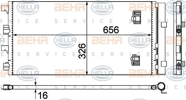 Condenseur / Radiateur de climatisation BEHR HELLA SERVICE 8FC 351 319-294 (X1)