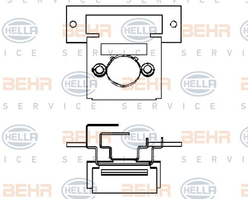 Resistance moteur de ventilateur de chauffage BEHR HELLA SERVICE 9ML 351 332-061 (X1)