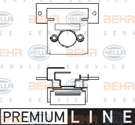 Resistance moteur de ventilateur de chauffage BEHR HELLA SERVICE 9ML 351 332-071 (X1)