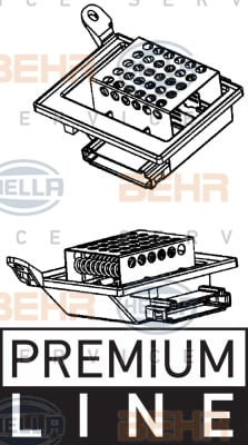 Resistance moteur de ventilateur de chauffage BEHR HELLA SERVICE 9ML 351 332-201 (X1)