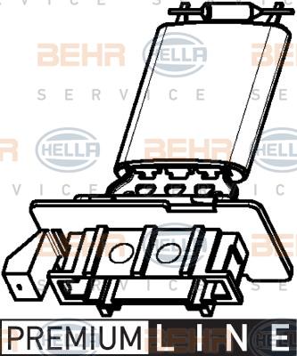 Resistance moteur de ventilateur de chauffage BEHR HELLA SERVICE 9ML 351 332-371 (X1)