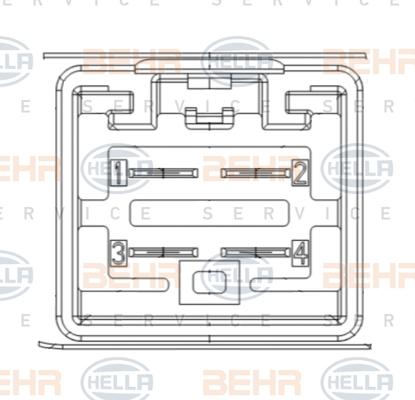 Resistance moteur de ventilateur de chauffage BEHR HELLA SERVICE 9ML 351 332-461 (X1)