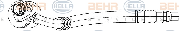 Tuyau de climatisation BEHR HELLA SERVICE 9GS 351 338-191 (X1)