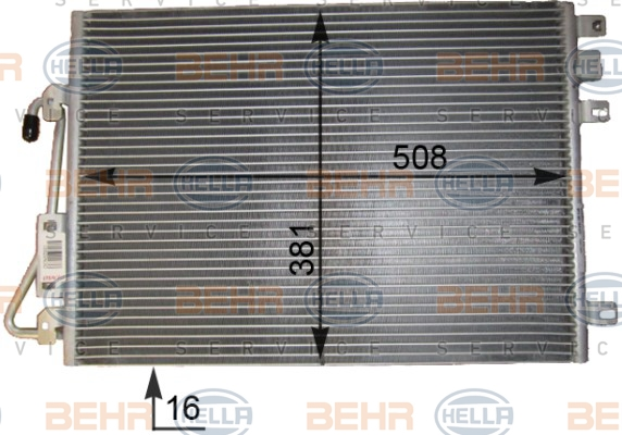 Condenseur / Radiateur de climatisation BEHR HELLA SERVICE 8FC 351 343-431 (X1)