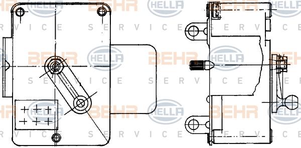 Actionneur de climatisation BEHR HELLA SERVICE 6NW 351 344-051 (X1)