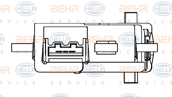 Actionneur de climatisation BEHR HELLA SERVICE 6NW 351 345-211 (X1)