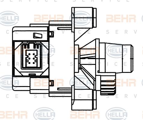 Actionneur de climatisation BEHR HELLA SERVICE 6NW 351 345-251 (X1)
