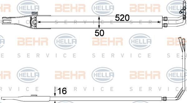 Radiateur de direction BEHR HELLA SERVICE 8MO 376 701-611 (X1)