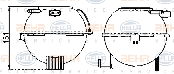 Vase d'expansion BEHR HELLA SERVICE 8MA 376 702-474 (X1)