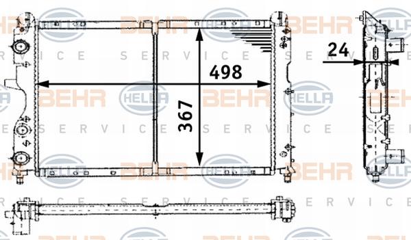Radiateur de refroidissement BEHR HELLA SERVICE 8MK 376 716-171 (X1)