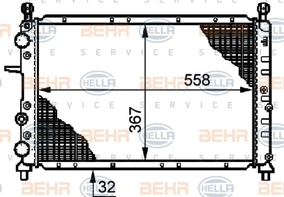 Radiateur de refroidissement BEHR HELLA SERVICE 8MK 376 720-321 (X1)